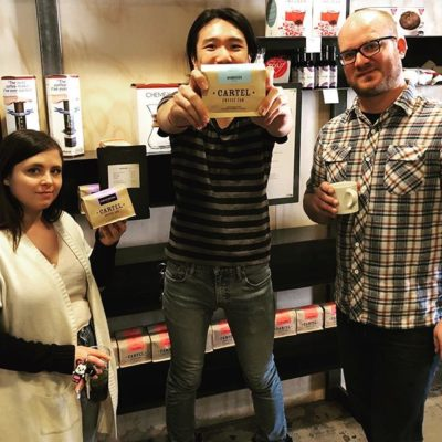 Awesome times with Ty, Jeff & Paul @cartelcoffeelab 🙌🏽 #TempeAZ #specialtycoffeeroaster #coffeepackaging #customcoffeebags