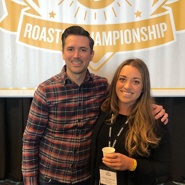 Best of luck to reigning U.S. Roaster Champion Ian Picco @topecacoffee and all the talented roaster competitors! #specialtycoffeeroaster #roasterchampionship