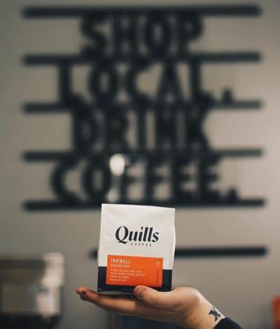Quality that inspires @quillscoffee #specialtycoffeeroaster #shoplocal #coffeepackaging #customcoffeebags 📷: @quillscoffee, @rivercityevansville