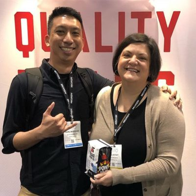 We had the best time catching up with @atlasbranding at #CoffeeExpo2019 and their beautiful work @dynamiteroastin! #coffeedesign #coffeebranding #coffeepackaging #customcoffeebags