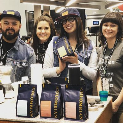 Thank you for the delicious coffee @thecolombianyeg! #specialtycoffee #edmontoncoffee #specialtycoffeeroaster #coffeepackaging #customcoffeebags #coffeeexpo