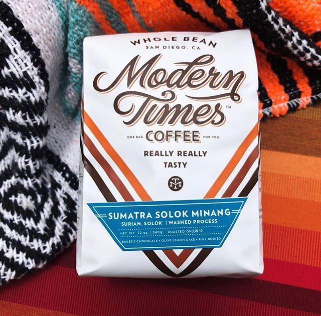 Really, really tasty coffee @moderntimesbeer #specialtycoffee #coffeepackaging #customcoffeebags 📷: @moderntimesbeer