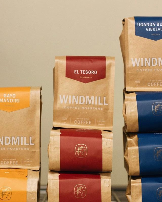 Sustainably sourced. Small batch roasted. Quality focused. Roasting out of Ames, IA @windmillcoffeeroasters 📷: @windmillcoffeeroasters #specialtycoffeeroaster #coffeepackaging #customcoffeebags