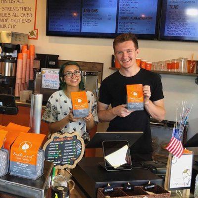Congratulations @bodhileafcoffee on debuting your brand new bags! We 🧡 your new look! ✨ #bodhileafcoffee #specialtycoffeeroaster #coffeepackaging #customcoffeebags