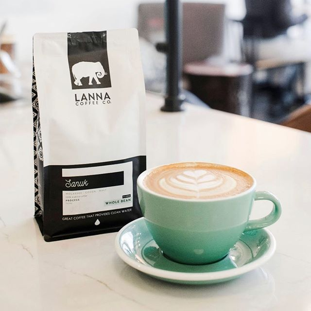 @lannacoffeeco Great coffee that provides clean water💧#lannacoffee #specialtycoffeeroaster #coffeepackaging #customcoffeebags 📷: @lannacoffeeco