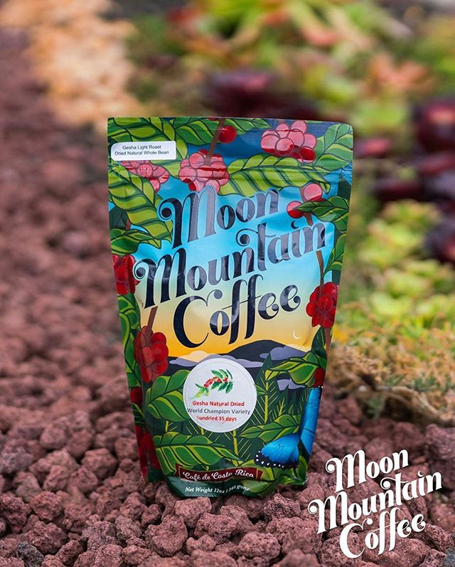 Crafted from the Talamanca Mountains of south Costa Rica to you @moonmountaincoffee #moonmountaincoffee #specialtycoffeeroaster #coffeepackaging #customcoffeebags 📷: @eyerecap