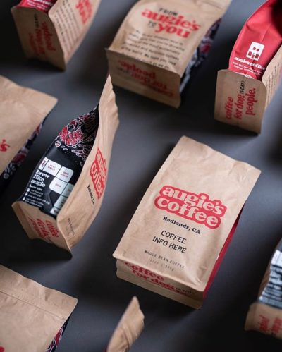 Doggone good coffee 🐶 (and packaging) @augiescoffee #augiescoffee #daugies #specialtycoffeeroaster #coffeepackaging