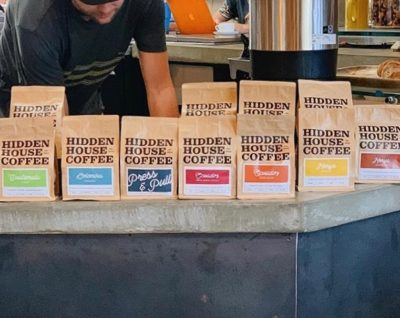 @hiddenhousecoffee Meticulously working to bring you stellar coffee #hiddenhousecoffee #specialtycoffeeroaster #coffeepackaging #customcoffeebags 📷: @hiddenhousecoffee