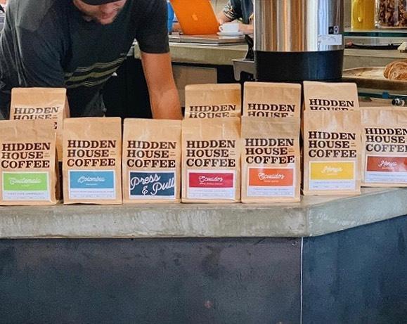@hiddenhousecoffee Meticulously working to bring you stellar coffee #hiddenhousecoffee #specialtycoffeeroaster #coffeepackaging #customcoffeebags 📷: @hiddenhousecoffee