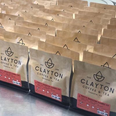 @claytoncoffeeandtea Roasting the highest quality coffee in Modesto, CA since 1988 #claytoncoffeeandtea #specialtycoffee #coffeepackaging #customcoffeebags 📷: @claytoncoffeeandtea