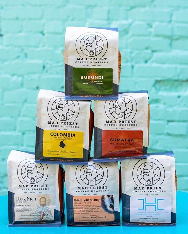 @madpriestcoffee Dedicated to crafting excellent coffee, educating the curious & championing the displaced #madpriestcoffee #specialtycoffee #coffeepackaging 📷: @madpriestcoffee