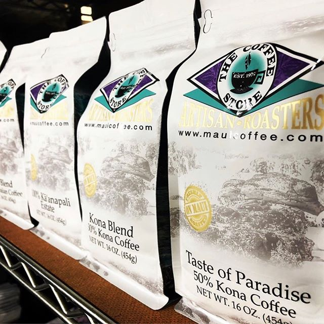 Flavorful, high-quality coffees roasted in Maui, HI @mauicoffeestore #specialtycoffeeroaster #coffeepackaging #customcoffeebags 📷: @mauicoffeestore