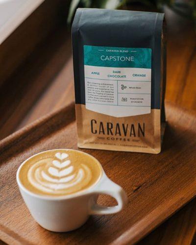 Sourced, roasted & brewed with intention @caravan_coffee  #caravancoffee #specialtycoffeeroaster #coffeepackaging #customcoffeebags 📷: @caravan_coffee