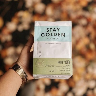 @staygoldencoffeeco Setting the new standard for coffee concepts in Nashville, TN⠀ #staygoldencoffee #specialtycoffeeroaster #coffeepackaging #customcoffeebags⠀ 📷: @honeyandrosescoffee